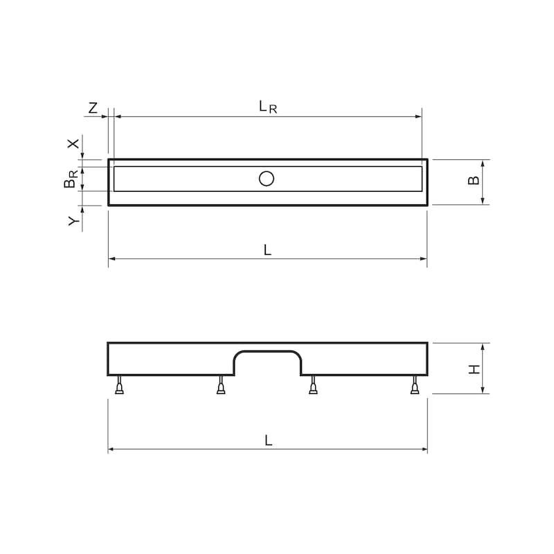 Duschrinne Montagefüße - DUSCHRIN-MNTGFUSS-900X(88-123)MM