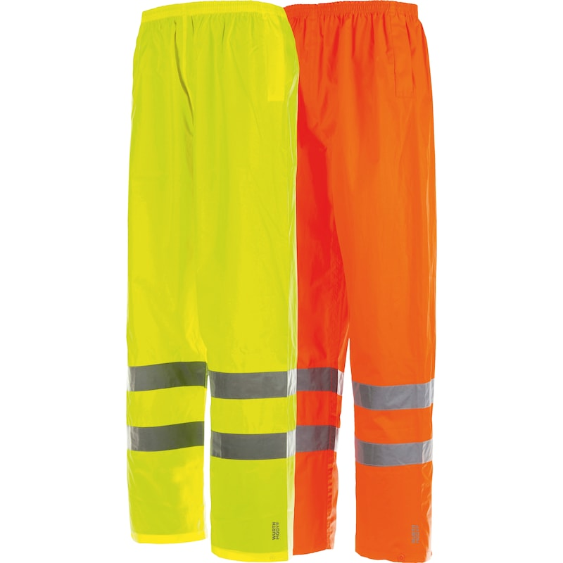High-visibility rain trousers