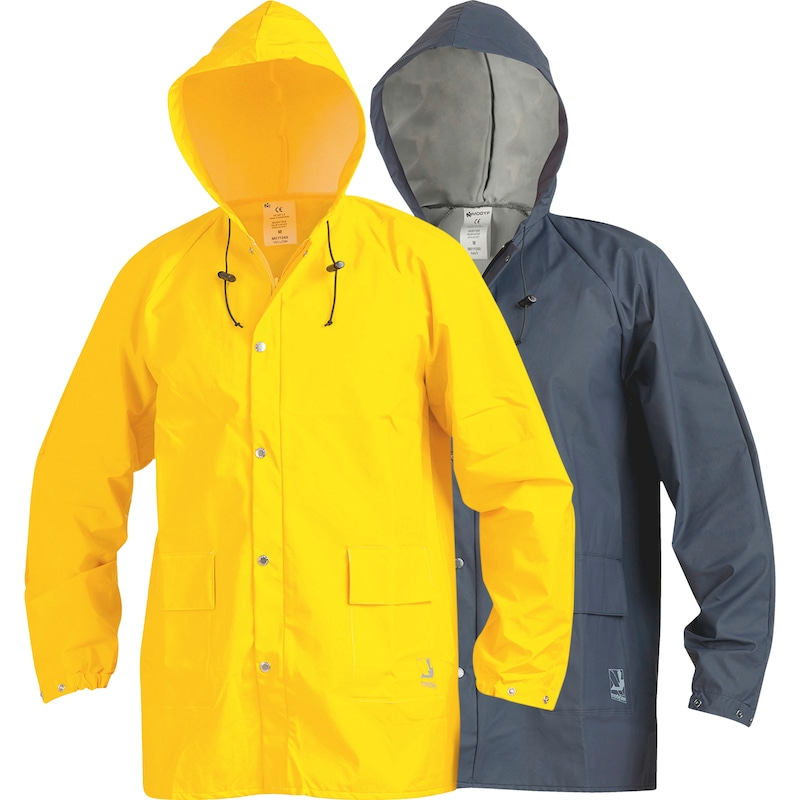 Weather protection rain jacket