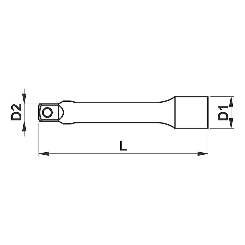 1/2 inch extension - EXT-1/2IN-L250MM