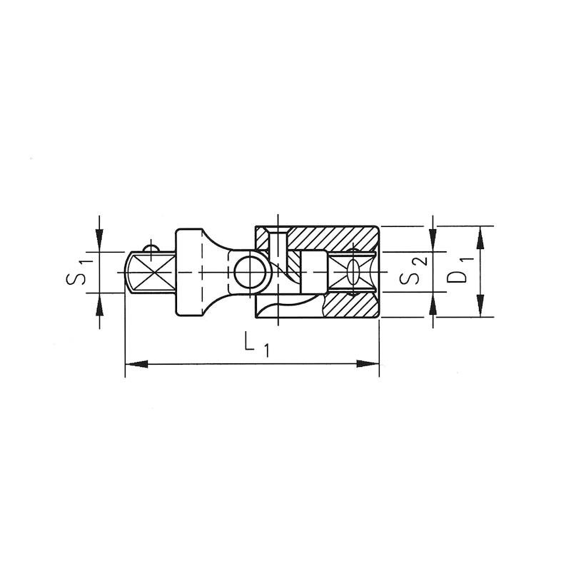 1/2 inch cardan joint - CRDNJNT-1/2IN
