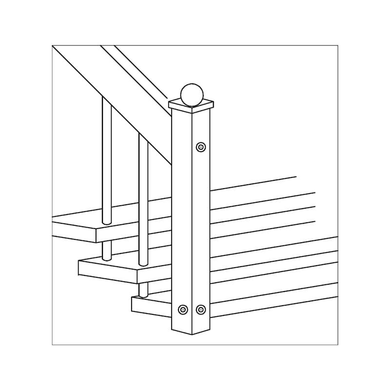 Treppenbauschraube metrisches Gewinde - 5