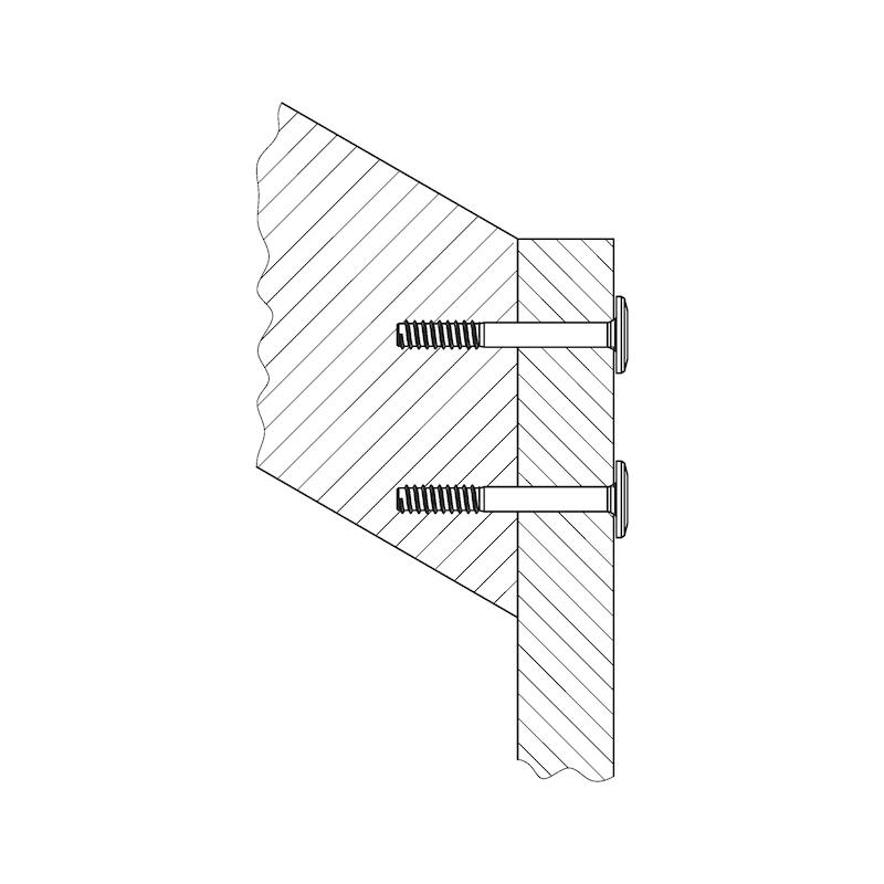 Treppenbauschraube metrisches Gewinde - 3