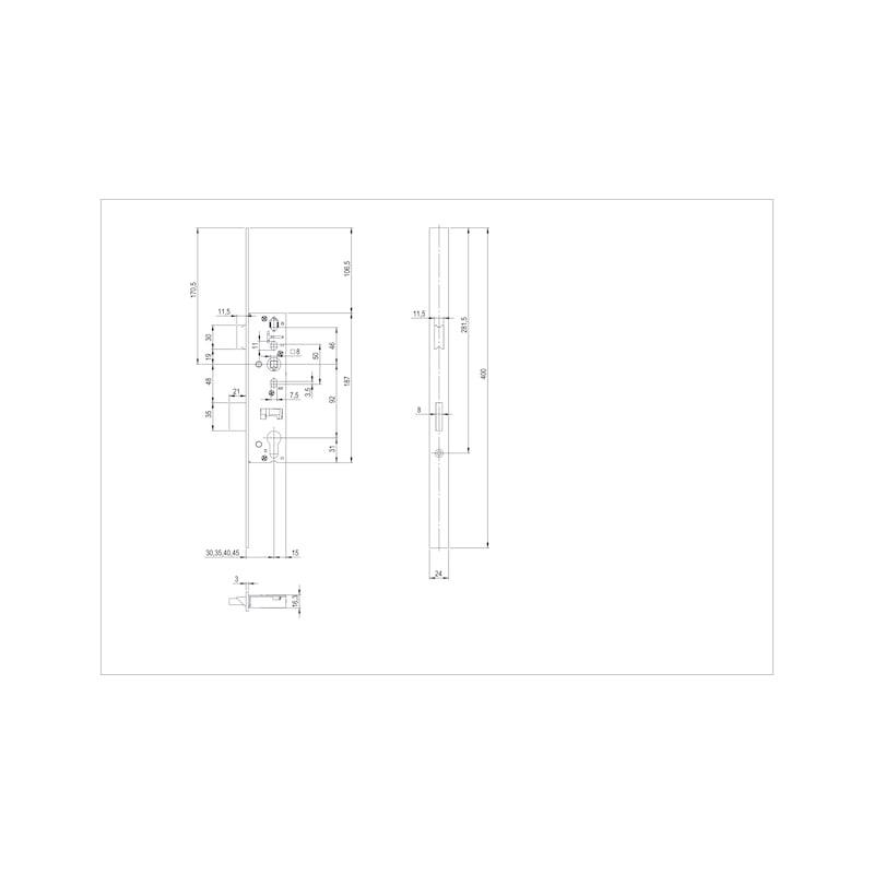 Renovier-Rohrrahmen-Einsteckschloss RR03 - 2
