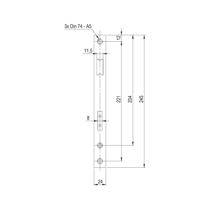 Rohrrahmen-Einsteckschloss RR02 - 3