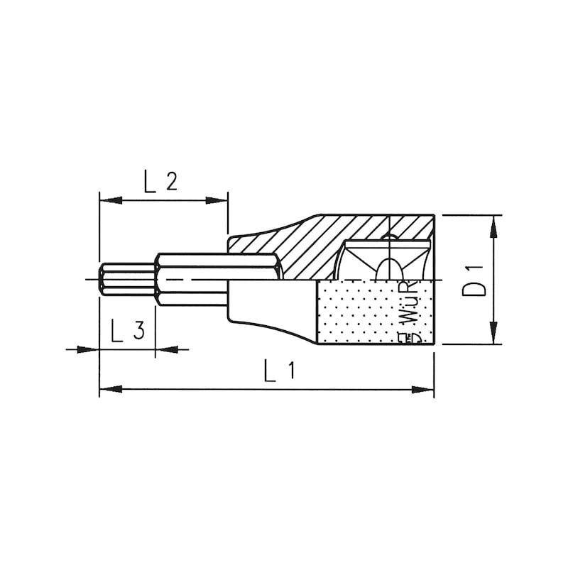 1/2 Zoll Steckschlüsseleinsatz metrisch - STESHSL-1/2ZO-IN6KT-SW6-L60MM