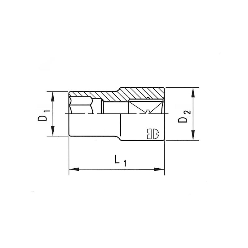 3/8 Zoll Steckschlüsseleinsatz - STESHSL-3/8ZO-AUSTX-E8