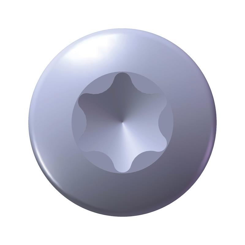 WÜPLAST<SUP>® </SUP>Linsenkopfschraube mit Innensechsrund - SHR-LIKPF-W1452-T10-10.9-(A3K)-3X8