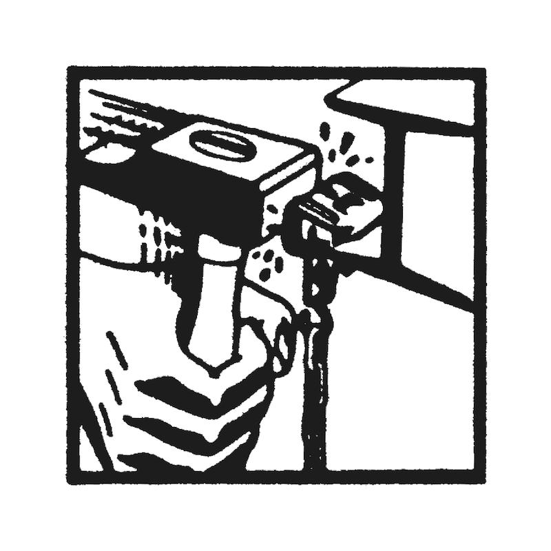 Clip angulaire pour tige filetée Type SPW - 4
