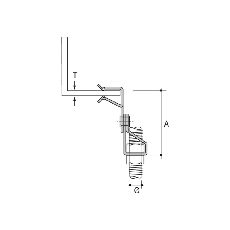 Clip angulaire pour tige filetée Type SPW - 2
