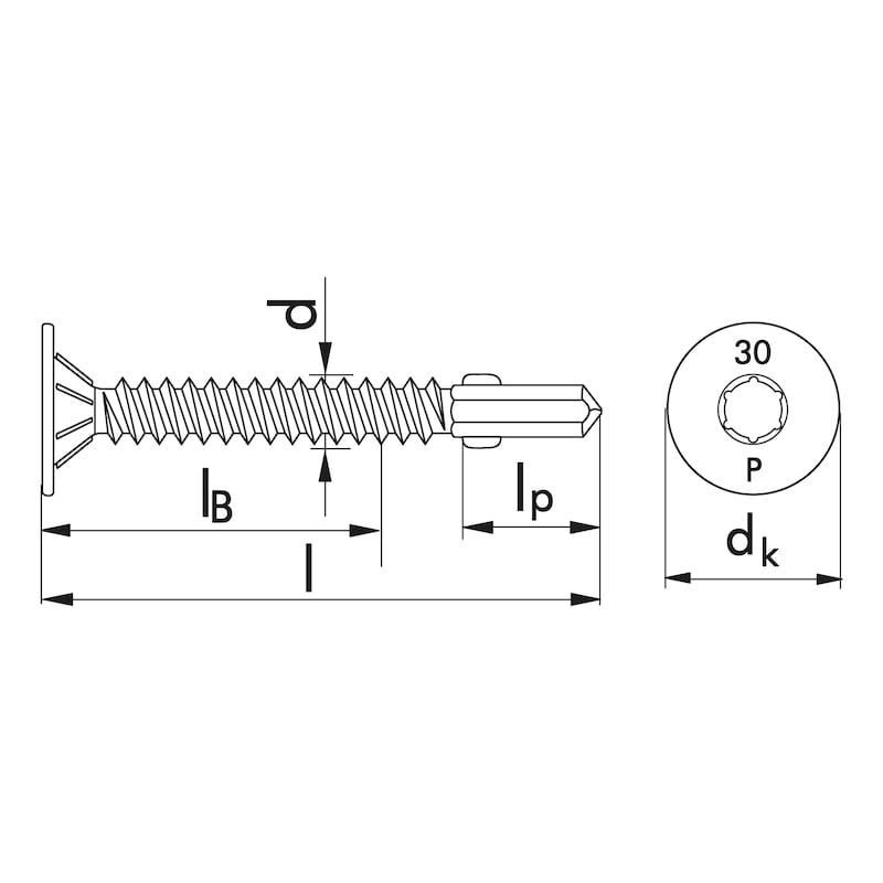 Flügel-Bohrschraube Tellersenkfräskopf mit AW-Antrieb pias<SUP>®</SUP> - 2
