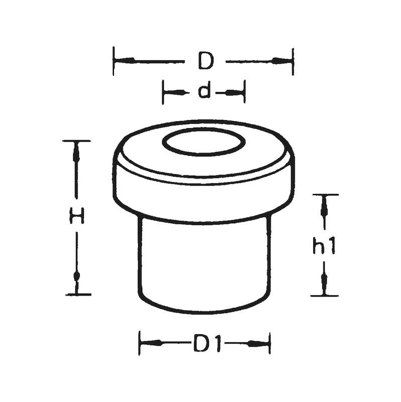 Tek taraflı kablo yalıtma kovanı - KABLO-TESİS.KORUMA LASTİK TEKYANAK 8X11