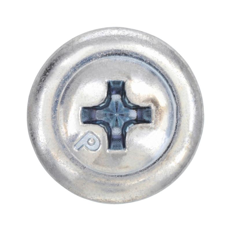 Bohrschraube Linsenkopf mit Bund und Kreuzschlitz H pias<SUP>®</SUP> - SHR-BSP-LIKPF-FLSH-H2-(A3K)-4,8X22