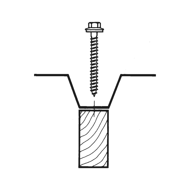 Selbstbohrende Fassadenbauschraube mit Sechskantkopf Faba<SUP>®</SUP> Typ A - 3