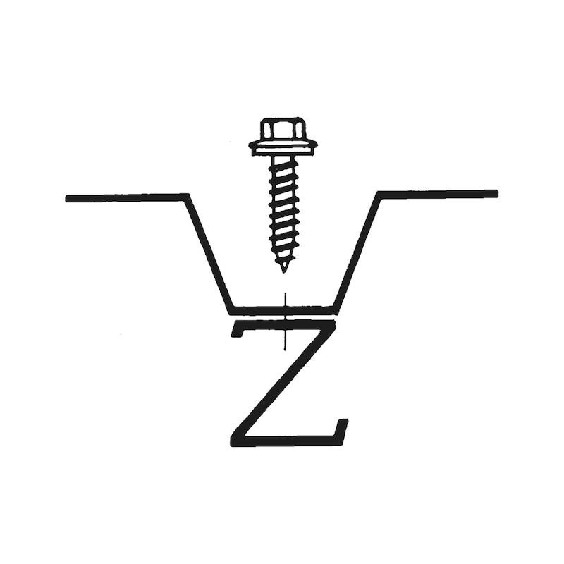 Selbstbohrende Fassadenbauschraube mit Sechskantkopf Faba<SUP>®</SUP> Typ A - 4