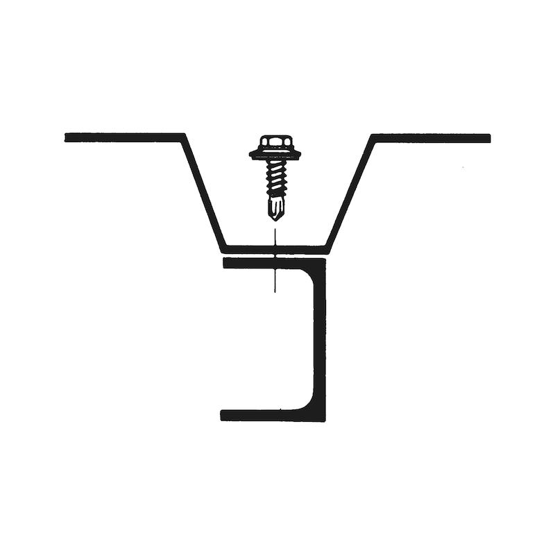 Bohrschraube Sechskantkopf Edelstahl A2 mit Dichtscheibe pias<SUP>®</SUP> - 4