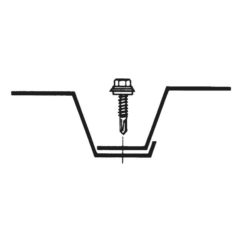 Bohrschraube Sechskantkopf mit Schutzkappe und Dichtscheibe aus Edelstahl A2 pias<SUP>®</SUP> - 3