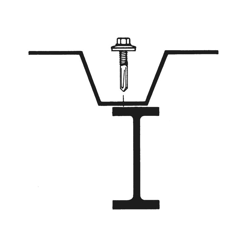 Bohrschraube Sechskantkopf  mit langer Bohrspitze und Dichtscheibe pias<SUP>®</SUP> - 3