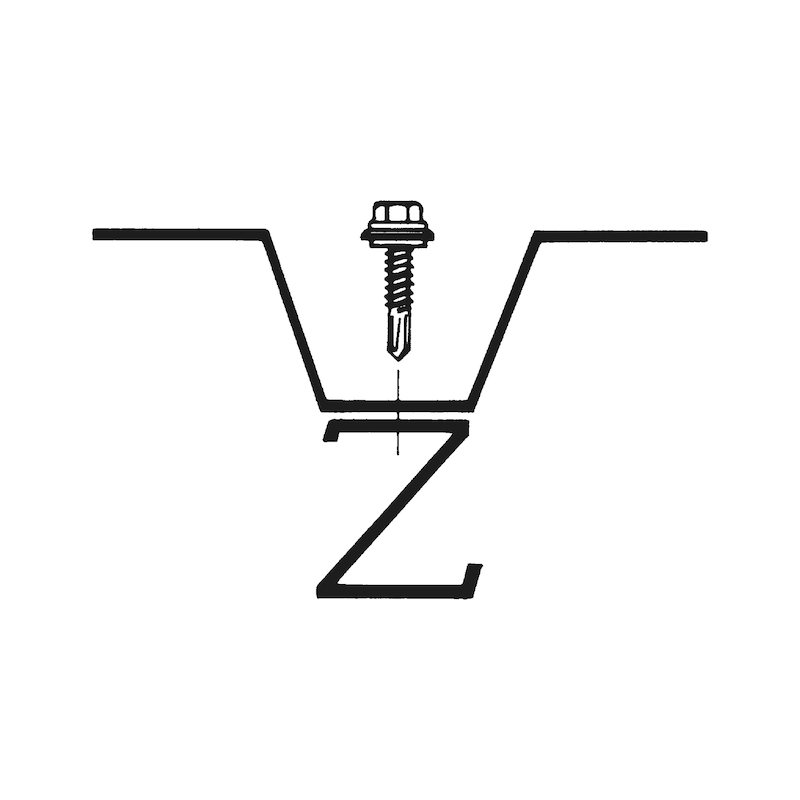 Bohrschraube Sechskantkopf mit Schutzkappe und Dichtscheibe aus Edelstahl A2 pias<SUP>®</SUP> - 4