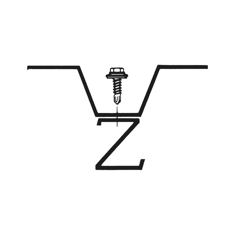 Bohrschraube Sechskantkopf Edelstahl A2 mit Dichtscheibe pias<SUP>®</SUP> - 3