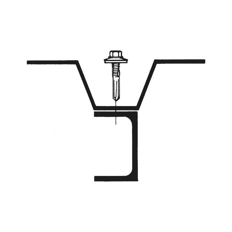 Bohrschraube Sechskantkopf  mit langer Bohrspitze und Dichtscheibe pias<SUP>®</SUP> - 4