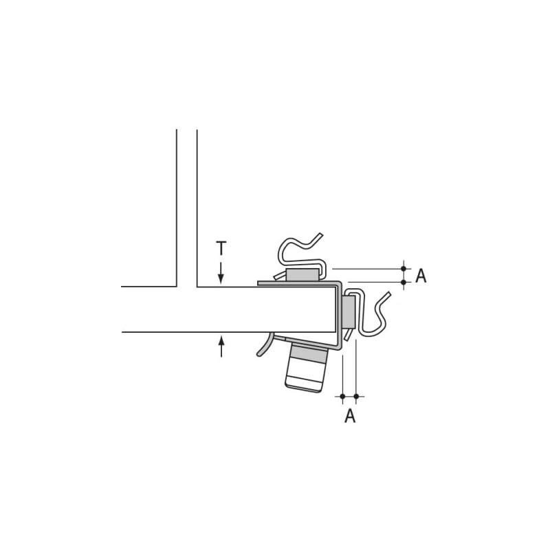 Trägerklemme Typ SRV1 - 3
