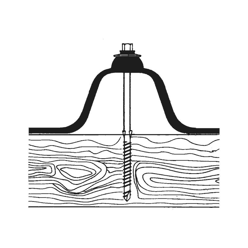 Bohrschraube mit Sechskantkopf und Dichtscheibe WFBS Typ Holz - 3