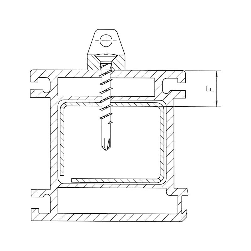 Eck-Lagerschraube selbstbohrend mit Linsensenkkopf und Kreuzschlitz H FEBOS<SUP>®</SUP> ELS - SHR-BSP-LISEKPF-ELS-H2-(A4K)-4,3X32