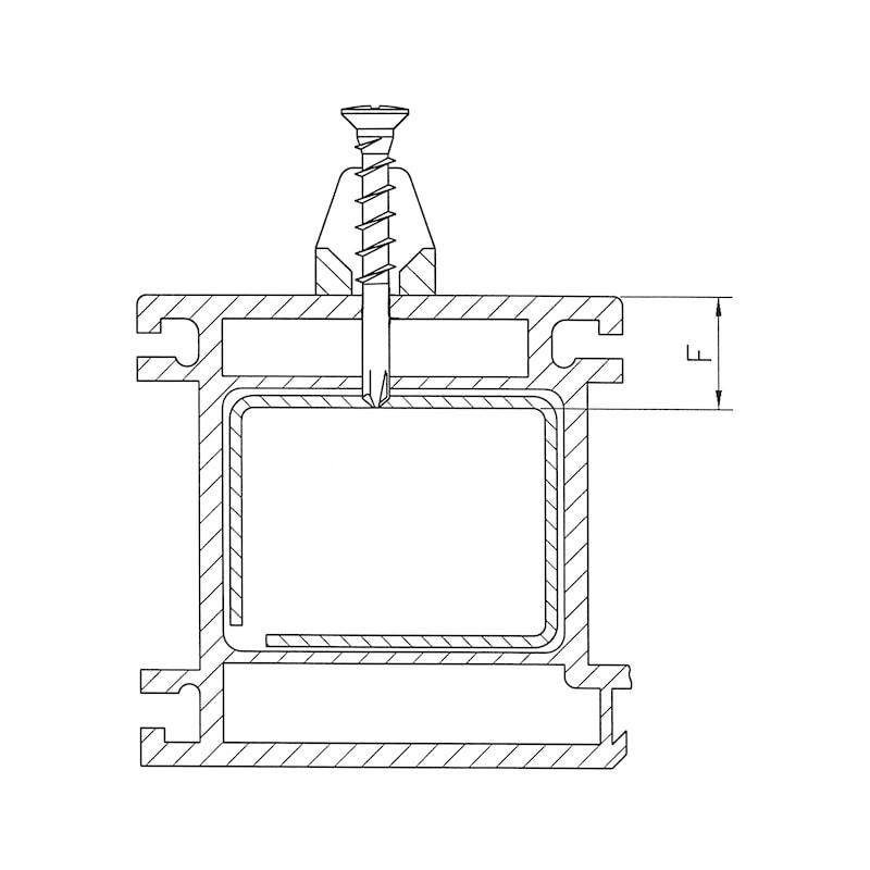 Eck-Lagerschraube selbstbohrend mit Linsensenkkopf und Kreuzschlitz H FEBOS<SUP>®</SUP> ELS - 4