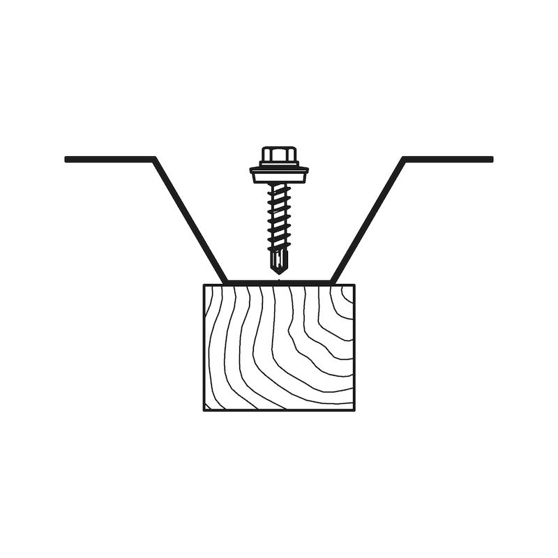 Bohrschraube Sechskantkopf mit Holzgewinde und Dichtscheibe piasta<SUP>®</SUP> - 3