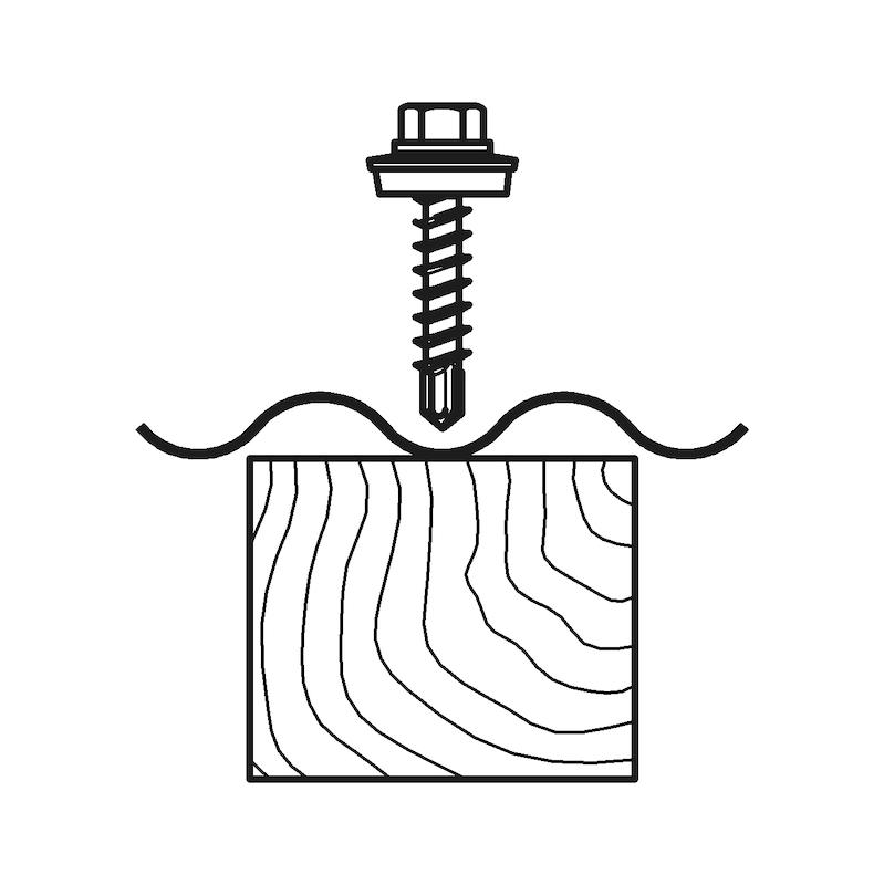 Bohrschraube Sechskantkopf mit Holzgewinde und Dichtscheibe piasta<SUP>®</SUP> - 4