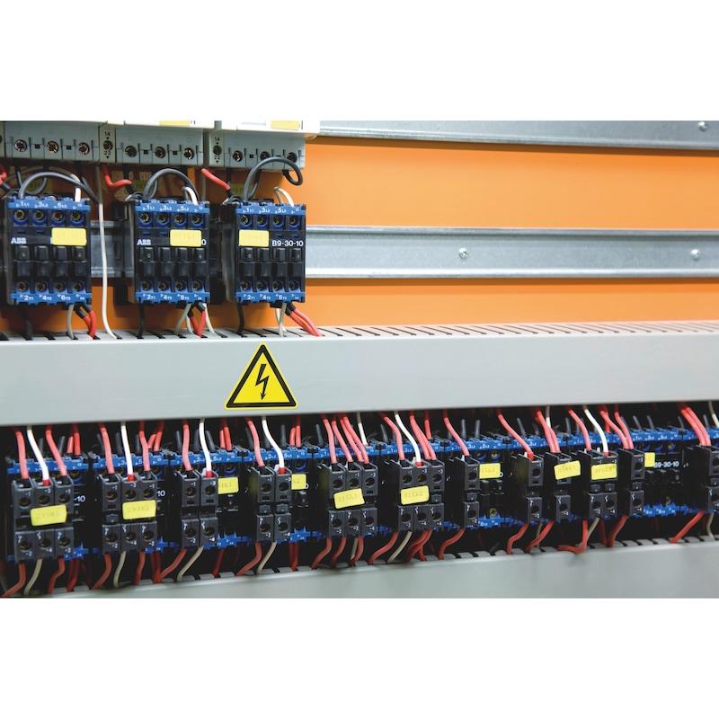 Sicherheits- und Warnschild - Gefährliche elektrische Spannung - 2