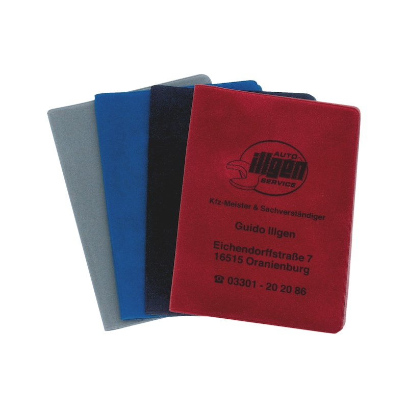 Velour driving licence wallet - HOLD-PRNT-VELOUR-PACKAGE-1COL-100PCS