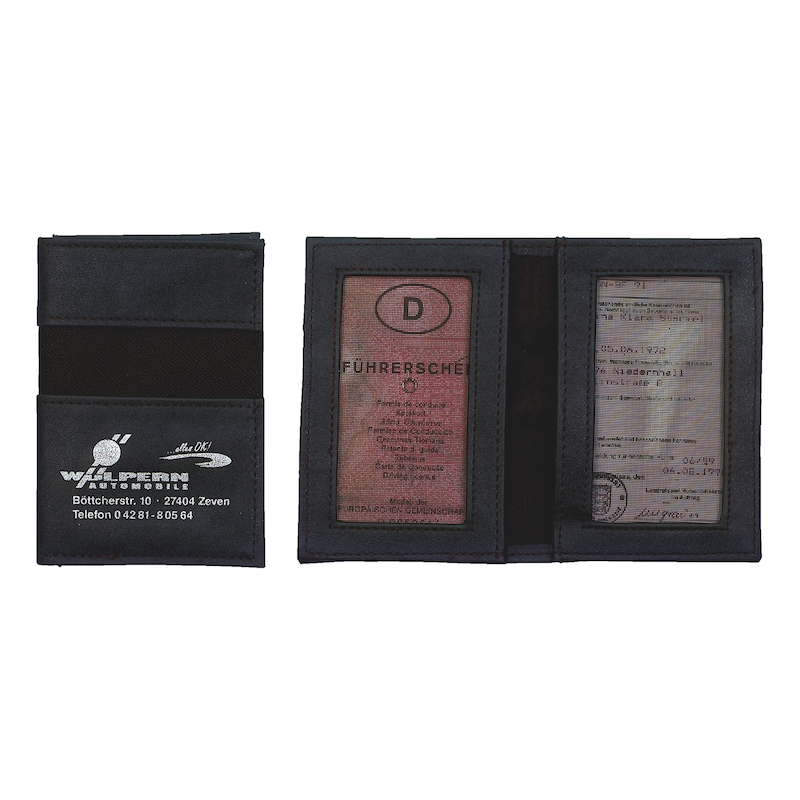 Negro driving licence wallet