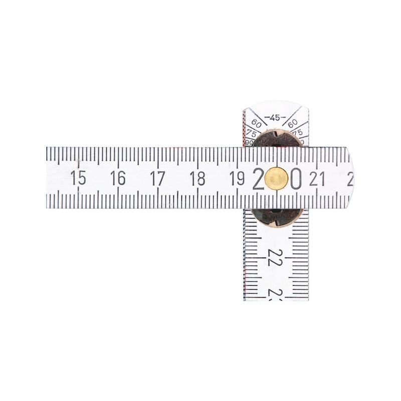 Meterstab Innengelenk - MSTAB-HOLZ-INNENGELENK-2M-WEISS-TYP2