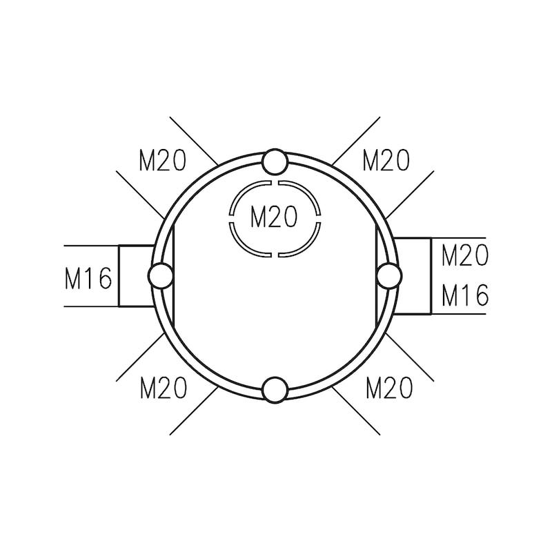UP-Geräte-Verbindungsdose Standard - 2