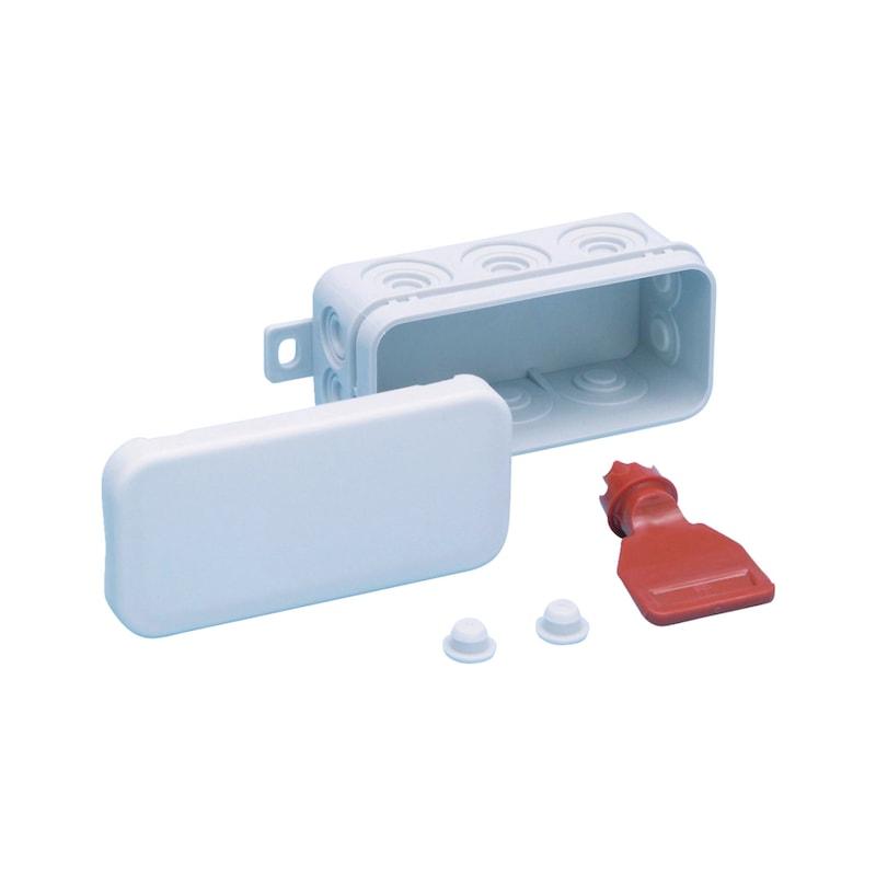 Boîte de dérivation, fermeture par clipsage Mini - MINI BOITE DE DERIVATION 89X43MM