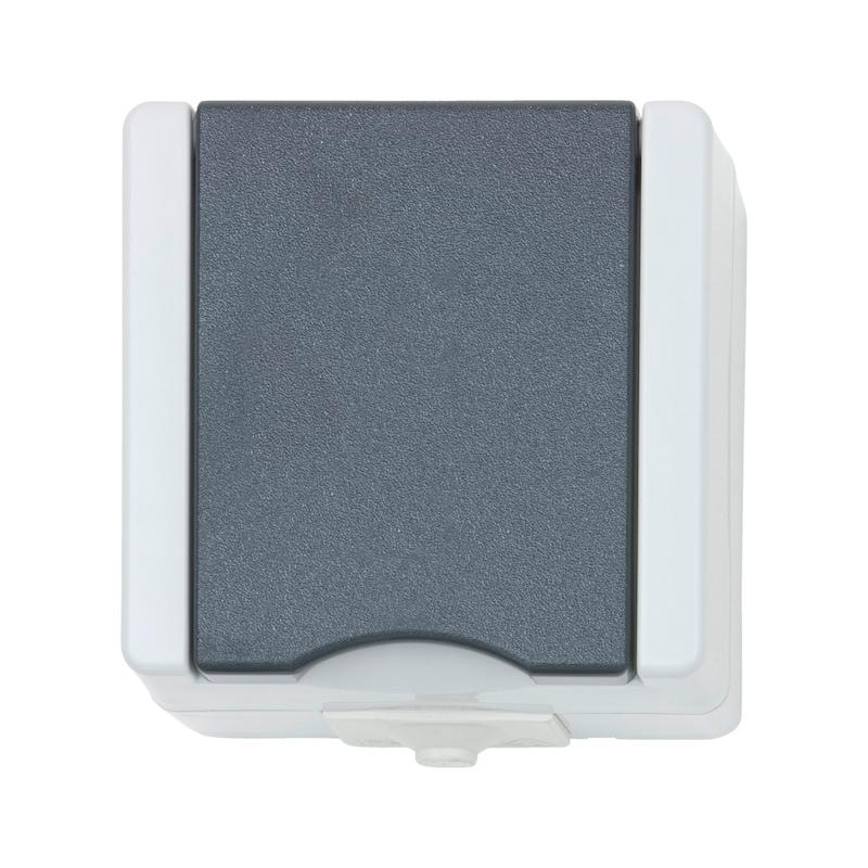 AP-Feuchtraum Schutzkontakt-Steckdose  - 1