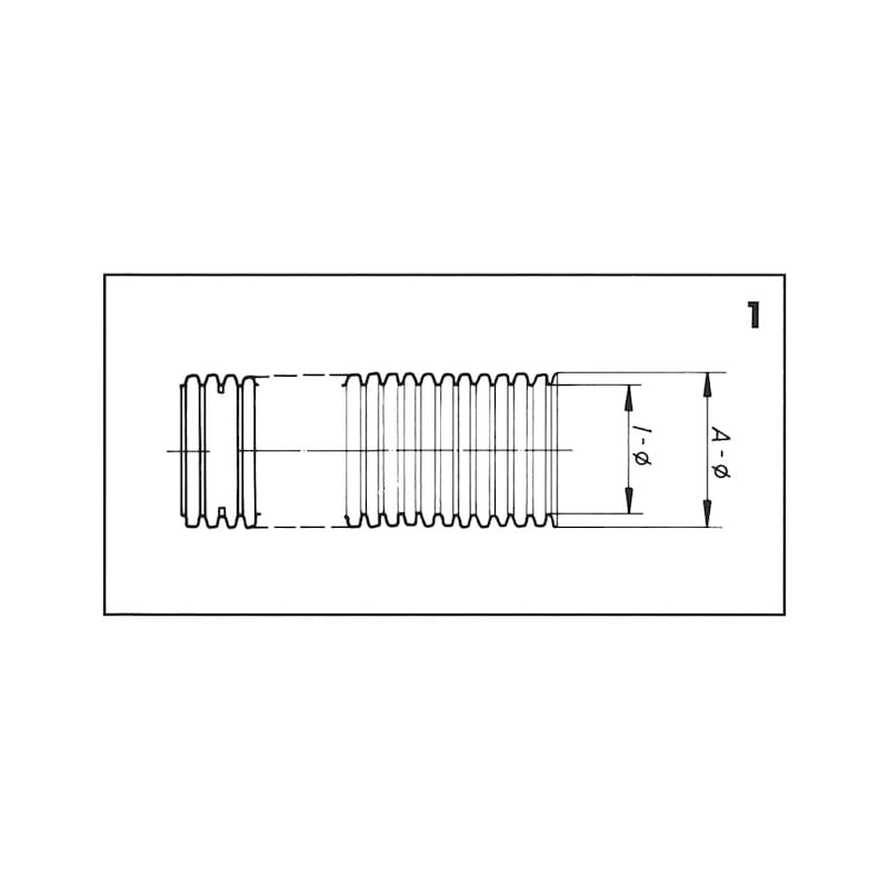 絶縁波形管 - コルゲートチューブ黒 切無し13Φ
