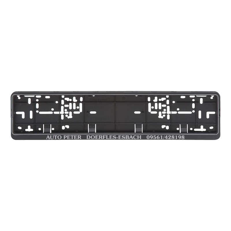 Kennzeichenbefestigung Klapp-Fix plus bedruckt - KSB-BEDR-(KLAPPFIX-PLUS)-SILBR-POS-520MM