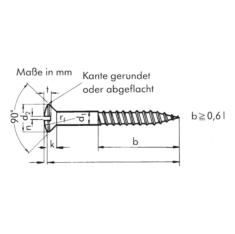 Holzschraube DIN 95 Messing Linsensenkkopf mit Schlitz - SHR-LISEKPF-DIN95-HO-SZ-MS-4X35