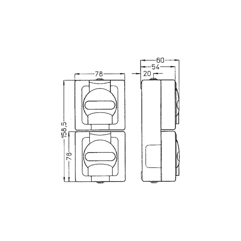ELMO<SUP>®</SUP> AP-Feuchtraum Schutzkontakt-Steckdose - 2