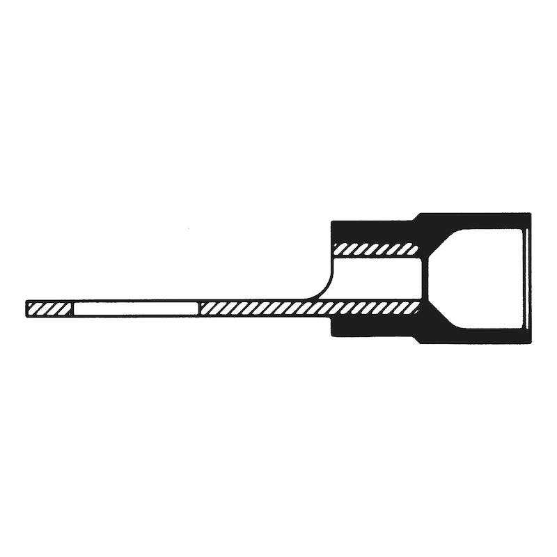 Crimpkabelschuh Gabelform schmal - CRIMPKBLSHH-GA-CU-(J2N)-M5-2,5QMM