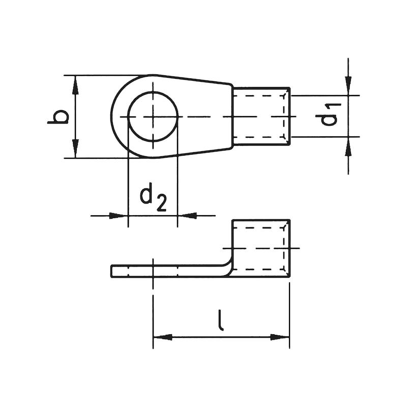 Quetschkabelschuh Ringform - QUETKBLSHH-46234-CU-(J2N)-M12-240,0QMM