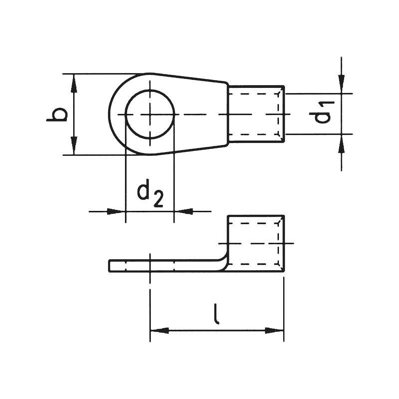 Quetschkabelschuh Ringform - QUETKBLSHH-RG-46234-CU-(J2N)-M6-1,0QMM