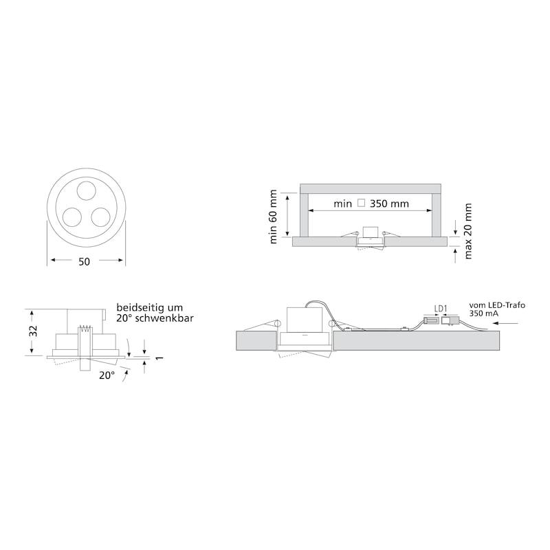 Inbouwledlamp  EHW 24 - 2