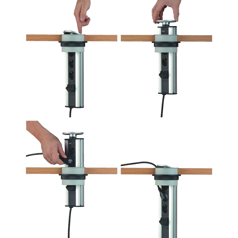 Einbausteckdosenleiste ST1 - 2