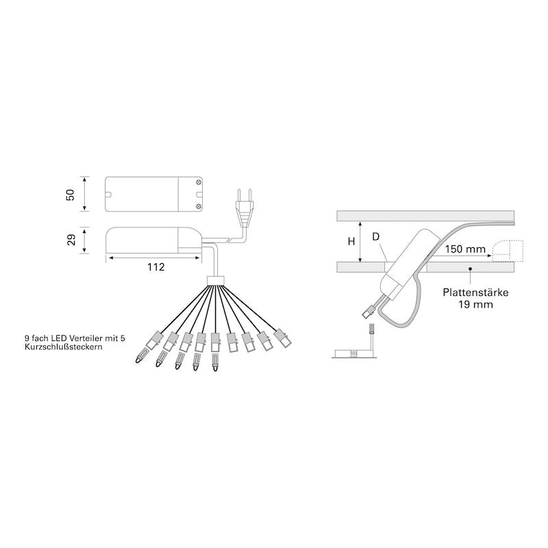 Verlängerungsleitung - ZB-VERBLTG-TRAFO-LED-LD1-1,0M