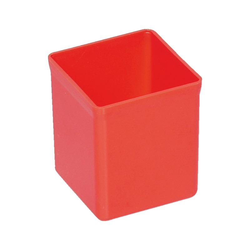 Plastic box for sheet-steel case
