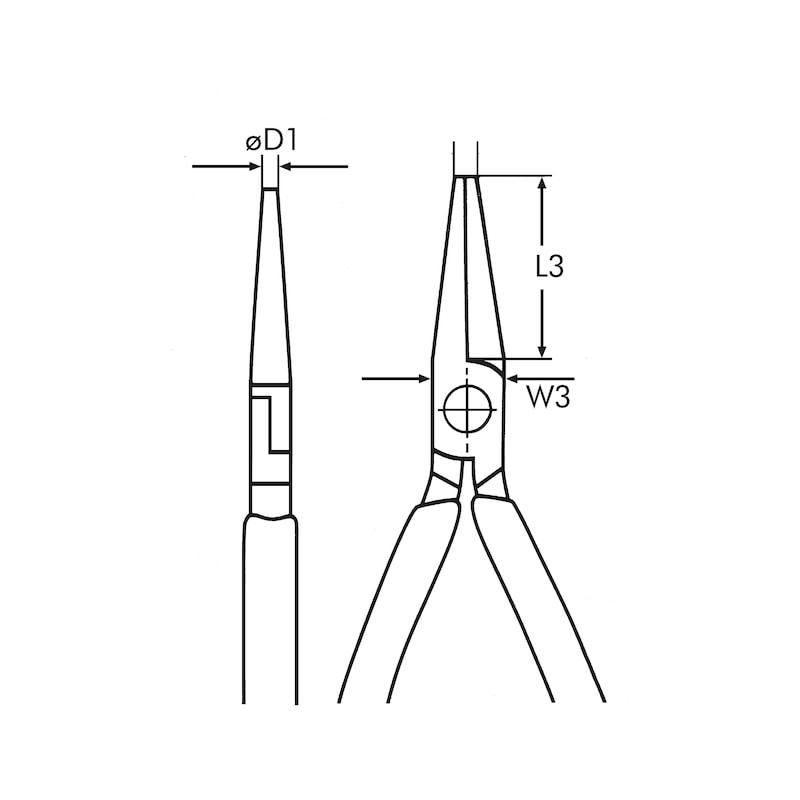 Pinza a becchi piatti VDE DIN ISO 5745, IEC 60900 - 2